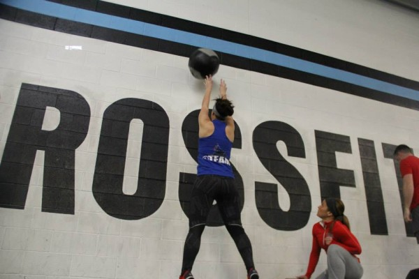 Melissa during 15.3 of the CrossFit Games Open.