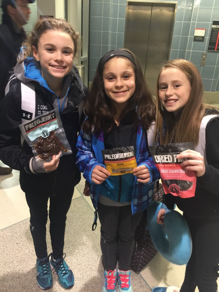 Clean options at the airport are limited, so McKenna, Livy and Kelly travel prepared.